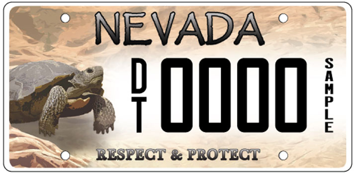 Nevada desert tortoise license plate